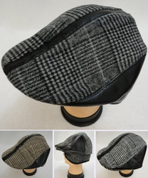 Wholesale Hats and Caps in Bulk - HT10. Plaid Ivy Cap with Ear Flaps