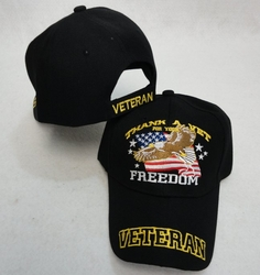 Wholesale Military Patriotic Hats and Caps Suppliers - HT102. THANK A VET FOR YOUR FREEDOM Ball Cap