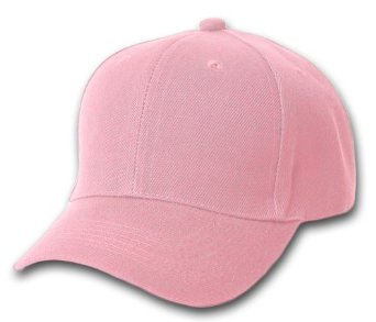 Wholesale Blank Hats - HT153. Solid Pink Ball Cap