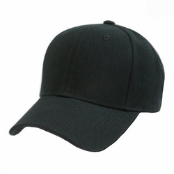 Wholesale Blank Hats Caps - HT154. ...Solid Black Ball Cap
