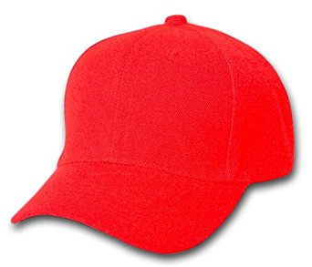 Wholesale Blank Hats - HT195. Solid Red Ball Cap