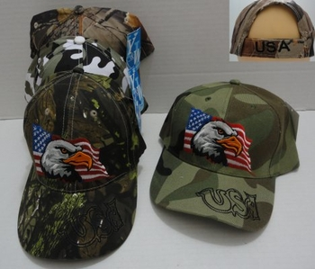 Wholesale Military Patriotic Hats and Caps Suppliers - HT7. Camo Eagle Hat