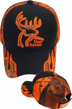 Wholesale Hats, Bulk Baseball Caps, Hunting, Embroidered in Bulk Suppliers - HF-267 Deer Hunter