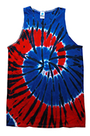 Wholesale Tie Dye Tank Tops INDEPENDENCE in Bulk, Wholesale Clothing and Apparel - MSC Distributors