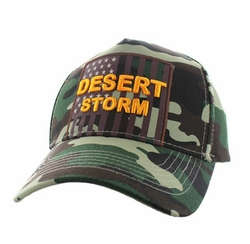 Caps Hats Wholesale Clothing, Military Hats Wholesale Bulk Supplier - VM778-02 American USA Desert Storm Velcro Cap (Solid Military Camo)