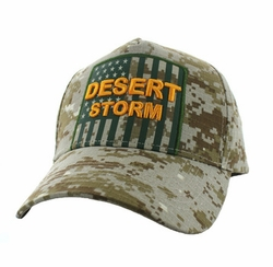 Caps Hats Wholesale Clothing, Military Hats Wholesale Bulk Supplier - VM778-03 American USA Desert Storm Velcro Cap (Solid Digita Camo)