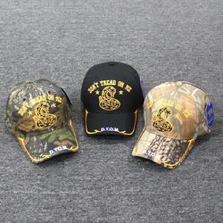 Men's Hats, Women's Hats, Embroiderd Hats, Wholesale Hats Wholesale Caps - TA-045b Don't Tread on Me Stars and Gold Line Bill