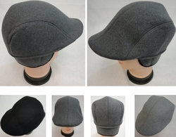 Mens Ivy Fashion Cap Hats - Accessories Bulk Wholesale Suppliers - WN939. Warm Ivy Cap with Ear Flaps [Wool-Like Solid Color]