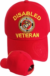 Clothing Apparel T-Shirts Hats Wholesale Bulk US Military - Red MI-207R Disabled Marine Veteran
