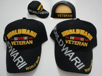 Wholesale T Shirts, Wholesale Hats, Bulk Cheap Discount Baseball Caps T Shirts Clothing - Wholesale Bulk - HT359. World War II Veteran Hat [Lg Letters]