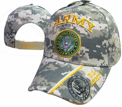 Wholesale Military Hats and Caps, CAP601MC ARMY & Army Emblem Camo