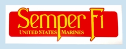 Military Bumper Stickers Wholesale Bulk Suppliers - BDCL Semper Fi. Military Decal