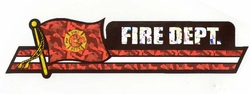 Military Bumper Stickers Wholesale Bulk Suppliers - DCL Fire Dept. Fire Dept Decal