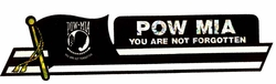 Military Bumper Stickers Wholesale Bulk Suppliers - DCL POW-MIA. Military Decal