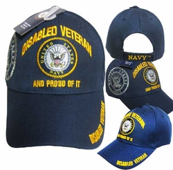 Wholesale US Navy Hats Caps - CAP592F Disable Navy Vet Cap