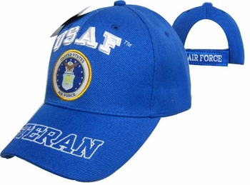 Wholesale Air Force Hats - CAP593DA USAF Emblem Bill Veteran Cap