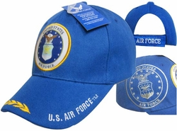 Wholesale US Air Force Hats Caps - CAP603B AF Emblem Shadow Bill Leaves Cap