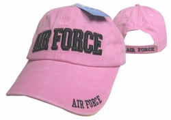 Wholesale Products - Air Force Apparel Military Wholesale T Shirts Embroidered Logo Baseball Hats Caps Bulk Suppliers - CAP603DP AIR FORCE Cap Pink color