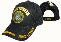 Clothing Caps Hats Wholesale Bulk Supplier Military - CAP591A Army Vet Seal Mesh Cap