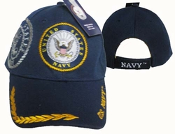 Caps Hats Wholesale Clothing, Military Hats Wholesale Bulk Supplier - CAP602B Navy Emblem