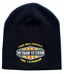 Wholesale Bulk Mens Hats and Caps - WIN607C Vietnam Vet Time to Honor Beanie