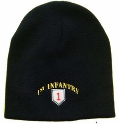 Wholesale Bulk Mens Hats and Caps Suppliers Printed - WIN778 1st Infantry Beanie
