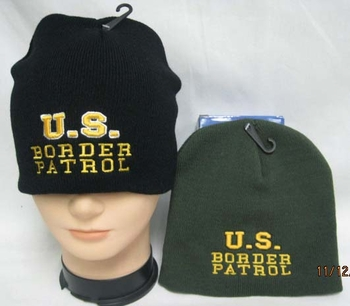 Wholesale Bulk Mens Hats and Caps Suppliers Printed - WIN993 Border Patrol Beanie