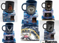 Wholesale Military Merchandise Patriotic Veterans Bulk Suppliers - MILITARY MUG With FLAG
