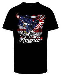 Patriotic T Shirts, God Bless America - MSC Distributors