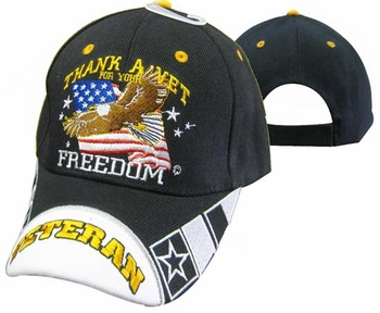 Wholesale Hats Caps - CAP605A Thank a Vet Eagle Cap