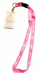 Military Wholesale Bulk Suppliers - LAN Air Force Pink. Military Lanyard