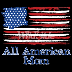 T-Shirts, Tees, Hats, Patriotic, American Flag, Cheap, Online, Wholesale -p-76690-17614-9x7-all-american-mom-flag