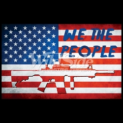 T-Shirts, Tees, Hats, Patriotic, American Flag, Cheap, Online, Wholesale -p-76900-17693-9x6-we-people-flag-rifle