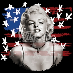 T Shirts Wholesale Bulk Supplier - Marilyn Monroe -p-76954-17713-9x9-marilyn-front-flag