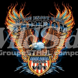 Thank a Veteran T-Shirts, Tees, Hats, Patriotic, American Flag, Cheap, Online, Wholesale - p-77964-14057-13x14-if-you-enjoy-your-freedom-thank-vet