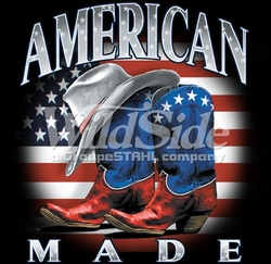 Fashion Patriotic Clothing For Men, Wholesale Bulk Supplier - Cowboy American Made T-Shirts, Tees, Hats, Patriotic, American Flag, Cheap, Online, Wholesale - p-78080-9866-12x13-american-made-boots