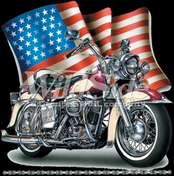 T-Shirts, Tees, Hats, Patriotic, American Flag, Cheap, Online, Wholesale -p-78220-6204-12x12-wavy-flag-bike-chain