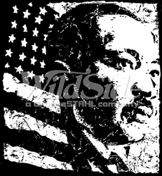 T-Shirts, Tees, Hats, Patriotic, American Flag, Cheap, Online, Wholesale -p-79692-12134-12x13-dr-king-flag-white