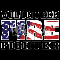 Wholesale Clothing, T-Shirts, Tees, Hats, Patriotic, American Flag, Cheap, Online, Wholesale -p-79906-12930-12x8-volunteer-fire-flag