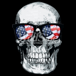 Skull Sunglasses T-Shirts, Tees, Hats, Patriotic, American Flag, Cheap, Online, Wholesale - p-80540-auto-sku-9x12-skull-usa-flag-glasses