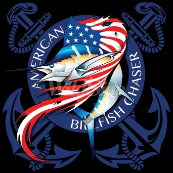 Wholesale Fishing T Shirts - Patriotic - MSC Distributors