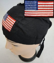Patriotic Wholesale Merchandies Flea Market Bulk Supplier - BN600. Embroidered Skull Cap [Flag]