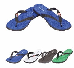 Patriotic Wholesale Merchandies Flea Market Bulk Supplier - SC0835. Men's Flip Flops--SPORTS with Flag