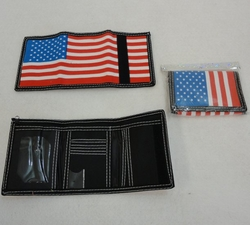 Patriotic Wallet, Wholesale Flea Market, Wholesale Supplier Merchandise, Bulk - PR98. Trifold Wallet [Flag]