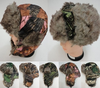 Realtree Hardwoods HD® Camo - Wholesale Bulk Supplier - WN219. Aviator Hat with Fur Trim--Camo