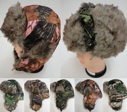 Realtree Hardwoods HD� Camo - Wholesale Bulk Supplier - WN219. Aviator Hat with Fur Trim--Camo