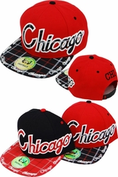 Wholesale Clothing, Products Resale Online - Blank hats, Beanies, Trucker Hats, Snapback Hats and more, Wholesale Prices - S-414 Chicago Plaid Snapback