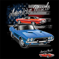 Bulk, Apparel - Wholesale T Shirts Custom Personalized American Muscle Vintage Classic Car, Licensed Online at Cheap Price - MSC Distributors - 21140D1-1