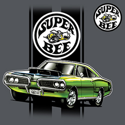 Shop Dodge Classic Car T-Shirts Men's Women's Online - Bulk Wholesale T-Shirts Supplier - 21144HL2-1