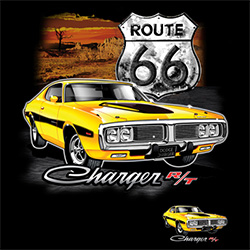 Wholesale Muscle Classic Car T Shirts - Dodge Charger - 21147D1-1
